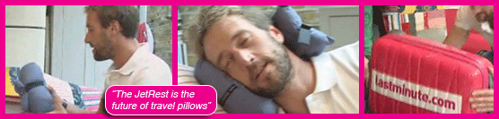Ben Fogle loving The JetRest travel pillow